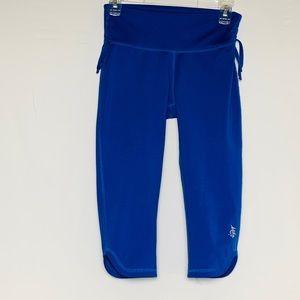 """Mika Yoga Wear """"Audrey"""" Capri Blue Pants S/M"""